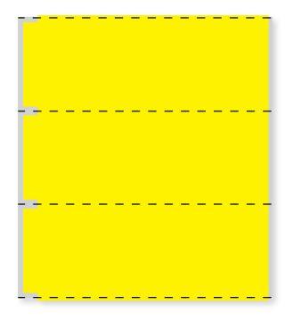 "Cerner Direct Thermal Printer Label, 3"" Core, 3"" x 1"""