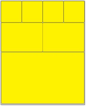"Cerner Direct Thermal Printer Label, 1-1/2"" Core, 4"" x 4-1/2"""