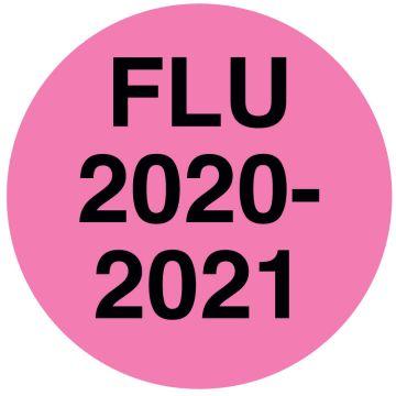 "FLU 2020/2021 Labels, 1/2"" x 1/2"""
