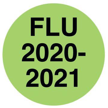 "FLU 2020/2021, Laminated Labels, 1/2"" x 1/2"""