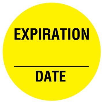 "Expiration Label, 3/4"" x 3/4"""