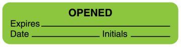 "Fluorescent Green Expiration Label, 1-5/8"" x 3/8"""