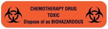 "Chemotherapy Agent Label, 2"" x 1/2"""