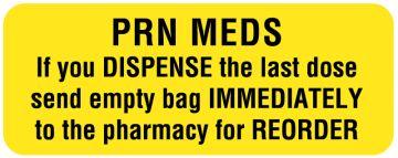 "Drug Renewal and Stop Order Label, 2-1/4"" x 7/8"""