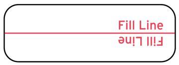 """Dose Fill Line Label, 2-1/4"""" x 7/8"""""""