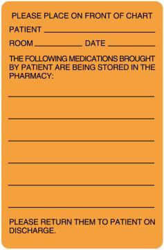 "Pharmacy Communication Label, 2-5/8"" x 4"""