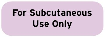 "Medication Instruction Label, 1-1/2"" x 1/2"""