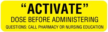 """Dosage Related Labels, 3"""" x 7/8"""""""