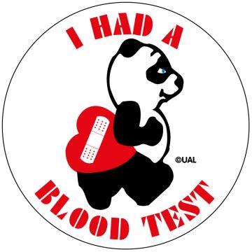 "Blood Test Label, 2-1/2"" x 2-1/2"""