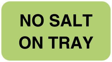 "NO SALT ON TRAY, Nutrition Communication Labels, 1-5/8"" x 7/8"""