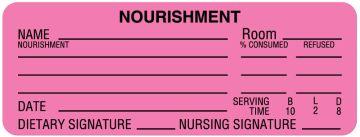 """Nourishment Labels, 3"""" x 1-1/8"""""""