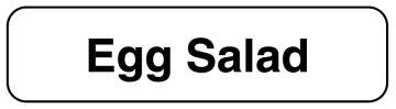 "EGG SALAD, Food Identification Labels, 1-1/4"" x 5/16"""