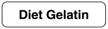 """DIET GELATIN, Food Identification Labels, 1-1/4"""" x 5/16"""""""