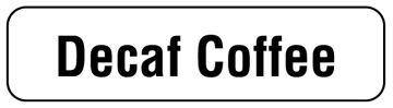 "DECAF COFFEE, Beverage Identification Labels, 1-1/4"" x 5/16"""