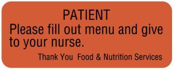 """Communication To Patient Labels, 2-1/4"""" x 7/8"""""""