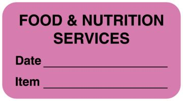 "Food Quality Control Labels, 1-5/8"" x 7/8"""