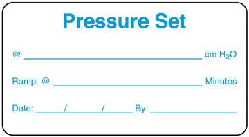 """Home Care Pressure Set Label, 3"""" x 1-5/8"""""""