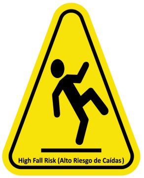 """Fall Risk Sign, 6"""" x 7.5"""""""