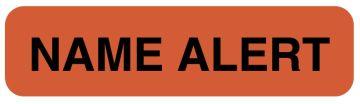 "Name Alert Label, 1-1/4"" x 5/16"""