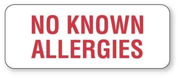 "Allergy Alert Label, 2-1/4"" x 7/8"""