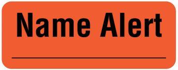 "Name Alert Label, 2-1/4"" x 7/8"""