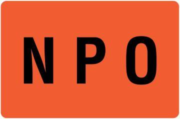 """NPO Label, 4"""" x 2-5/8"""""""