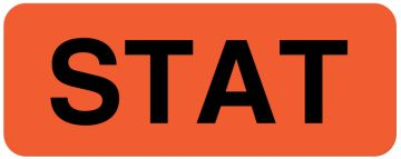 "STAT Label, 2-1/4"" x 7/8"""