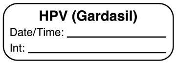 """HPV GARDASIL, 1-1/2"""" x 1/2"""""""