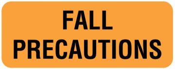 "Fall Precautions Label, 2-1/4"" x 7/8"""