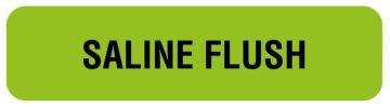 "Anesthesia Label, Saline Flush, 1-1/4"" x 5/16"""