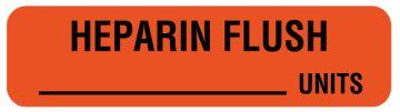 "Anesthesia Label, Heparin Flush Units, 1-1/4"" x 5/16"""