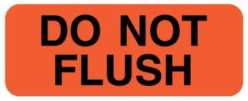 """DO NOT FLUSH, IV Label, 2-1/4"""" x 7/8"""""""