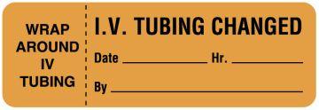 "I.V. Tubing Change Label, 3"" x 1"""