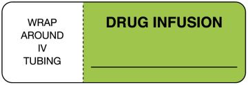 "Drug Infusion Flag Label, 3"" x 1"""