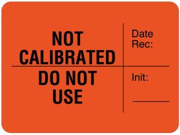 "Calibration Label, 1-3/4"" x 1-3/4"""