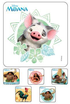"""MOANA,  Kids' Sticker, 2-1/2"""" x 2-1/2"""""""