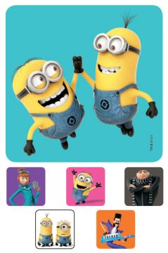 """DISPICABLE ME 3, Kids' Sticker, 2-1/2"""" x 2-1/2"""""""