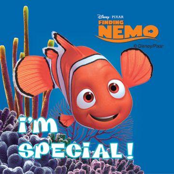 "FINDING NEMO, Kids' Sticker, 2-1/2"" x 2-1/2"""