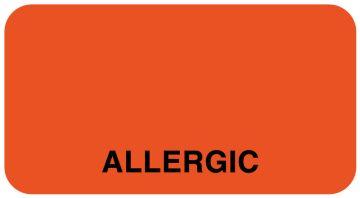 "Allergy Alert Label, 1-5/8"" x 7/8"""