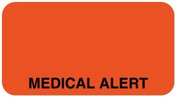 """Medical Alert Label, 1-5/8"""" x 7/8"""""""