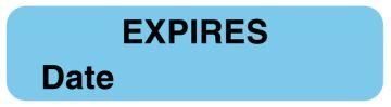 "Expiration Label, 1-1/4"" x 5/16"""