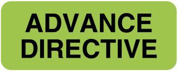"Advance Directive Label, 2-1/4"" x 7/8"""