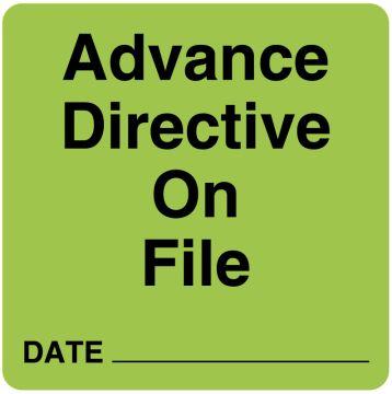 "Advanced Directive Label, 2-1/2"" x 2-1/2"""