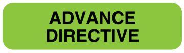 "Advance Directive Label, 1-1/4"" x 5/16"""