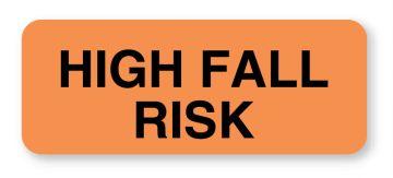 "Fall Risk Label, 1-1/4"" x 5/16"""