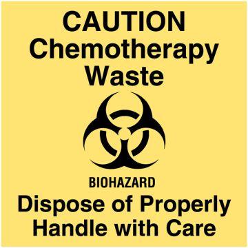 "Chemotherapy Communication Label, 4-1/2"" x 4-1/2"""