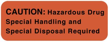 "CAUTION: Hazardous Drug/Special Handling label, 2 x 0.75, 470/Roll, 2"" x 3/4"""