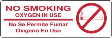 "No Smoking Label, 6"" x 2"""