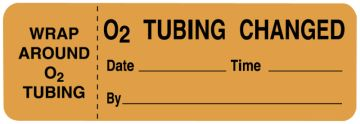"""Oxygen Therapy and Treatment Label, 3"""" x 1"""""""