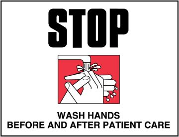 """Infection Control Labels, 8"""" x 5-1/4"""""""